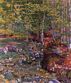 The Forest near Reichenbach - Artist: Ferdinand Hodler Completion Date: 1903 Style: Art Nouveau (Modern) Genre: landscape