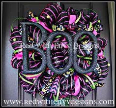Halloween Wreath, Deco Mesh Wreath, Mesh Wreath, Orange Wreath, Black Wreath, OOAK Wreath, Halloween