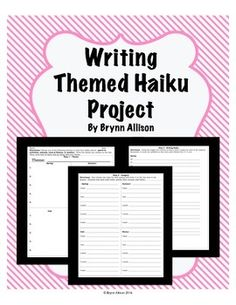 Have students focus on descriptive writing, imagery, and word choice as they write themed haiku for each of the four seasons.