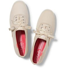 Keds Champion Gingham Lace (40 CAD) ❤ liked on Polyvore featuring shoes, sneakers, keds, sapatos, bright cream, lace shoes, keds shoes, keds footwear and lace sneakers