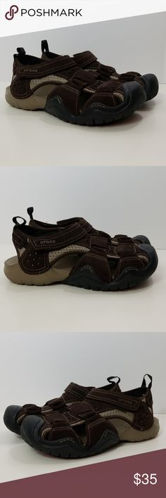 0157615397e Mens Sports Crocs Sandals See all pictures so you know what you are buying.