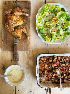Springtime roast chicken Caesar salad | Recipes | Jamie Oliver