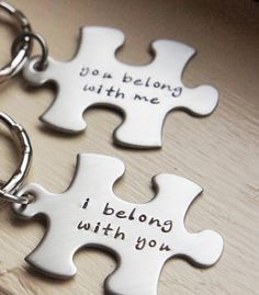 Personalized Puzzle Keychains
