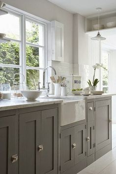 The Shabby Nest: 31 Days of All Things Home: My New House Kitchen Cabinet Inspiration~