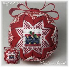 """""""Christmas Druml"""" ornament....Visit www.etsy.com/shop/pattyscraftcorner to view a variety of handmade ornaments."""