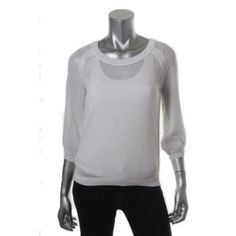 Juicy Couture New Catalina White Knit Crew Neck Pullover Sweater Top M BHFO