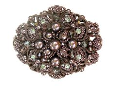Shuttle tatting with beads objects by Alla Vizir. Belt buckle