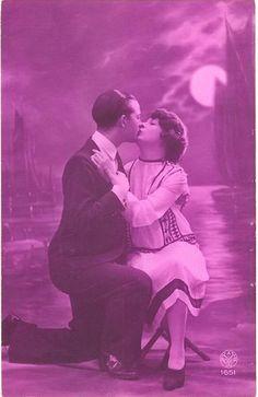 Moon Magic  vintage 1920s postcard