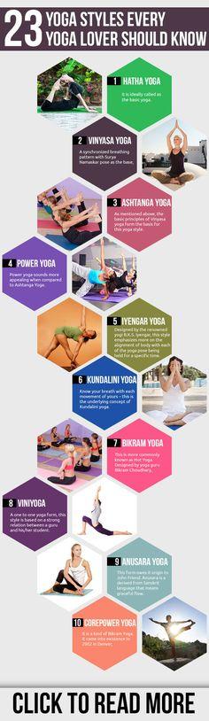 23 Yoga Styles Every