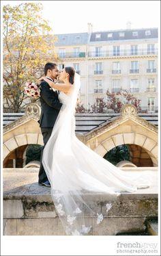 Veil Chapelle Expiatoire Wedding   Paris France Elopement: Paris, France.