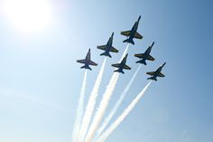 ANNAPOLIS, Md. (May 27, 2016) U.S. Navy Flight Demonstration Squadron, the Blue Angels, Delta pilots fly in formation over the United States Naval Academy 2016 Graduation Day and Commissioning Ceremony at Navy-Marine Corp. Memorial Stadium in Annapolis, Maryland. This year the Blue Angels are scheduled to perform 66 demonstrations at 34 locations across the U.S. in 2016. (U.S. Navy photo by Mass Communication Specialist 1st Class Andrea Perez/Released)