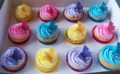 Pastel Butterfly Topped Cupcakes
