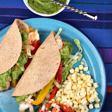 The Food Gallery Zone: Shrimp Tacos with Avocado Chimichurri Sauce