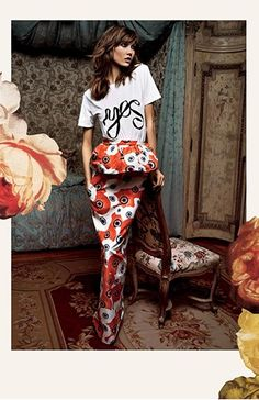 Karlie Kloss in the Moda Operandi La Vie en Rose campaign
