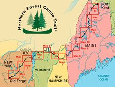 The Northern Forest Canoe Trail extends 740 miles across the rivers, streams, and lakes of New York, Vermont, Québec, New Hampshire and Maine. The nation's longest paddling trail can be explored by kayak or canoe and is suitable for day trips or longer excursions. The organization offers maps, guidebooks, online tools and fun events to get you out on the water.