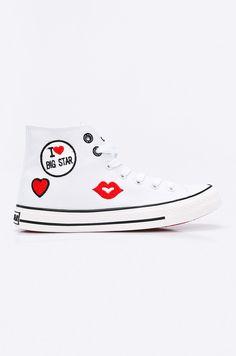 90df6013d6617 Białe trampki Big Star i czerwone usta! Kto chętny zapraszamy :) #trampki #