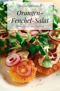 Dieser wunderbare 𝐎𝐫𝐚𝐧𝐠𝐞𝐧-𝐅𝐞𝐧𝐜𝐡𝐞𝐥-𝐒𝐚𝐥𝐚𝐭 𝐦𝐢𝐭 𝐫𝐨𝐭𝐞𝐫 𝐙𝐰𝐢𝐞𝐛𝐞𝐥 𝐮𝐧𝐝 𝐕𝐨𝐠𝐞𝐫𝐬𝐚𝐥𝐚𝐭 ist ein erfrischender Salat für heiße Sommertage und macht sich auch perfekt als Beilage zu Fischgerichten. Süße Orangen, herber Fenchel und die leichte Schärfe von roter Zwiebel ergeben mit frischem Vogerlsalat eine farbenfrohe und aufregende Salatkombination, die jeden begeistern wird. Orange, Tacos, Mexican, Vegetables, Ethnic Recipes, Food, Fish Dishes, Salads, Summer Days