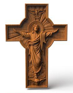 Wooden Wall Art, Wooden Walls, Workshop Studio, Les Religions, Art Carved, Christian Wall Art, Wall Crosses, Icon Design, Sculpture