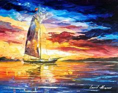 Leonid Afremov (@AfremovArt) | Twitter #boats on the #water #paintings