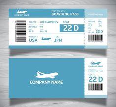 Boarding Ticket Pass Template in Blue Tones – Free Boarding Pass Template, Boarding Pass Invitation, Ticket Invitation, Invitations, Ticket Template Free, Receipt Template, Air Tickets, Airline Tickets, Ticket Design