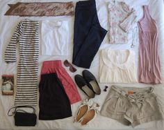 Summer holiday suitcase
