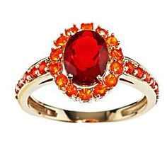 QVC -  Smithsonian 1.00 ct tw Mexican Fire Opal Ring 14K Gold  I so want this for my jewelry collection