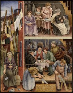 Tenement (mural study, Depart of Justice Building, Washington, D. C.) by George Biddle 1935