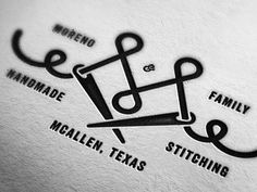 Moreno & Family Handmade Stitching designed by McGuire Design®. Business Logo, Business Card Design, Brand Identity Design, Logo Design, Graphic Design Inspiration, Brand Inspiration, Letterpress Printing, Stationery Design, Logo Branding