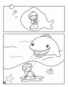 jonah and the whale coloring pages coloring pages - Jonah And The Whale Coloring Page