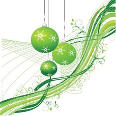abstract beautiful shinny Christmas balls in background line pattern illustration | Vector_Background_00000113