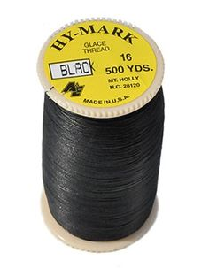 American & Efird, Hy-Mark #16 Glace Thread 500 Yards-black MADE IN USA(1spool/pack)