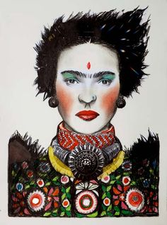Anthea Polson Art - specialising in contemporary Australian art and sculpture - Featuring work by Emma Gale - Gujarat Chica De La India