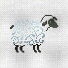 Cross stitch pattern PDF  Sheep silhouette by UAHomeMadeStudio