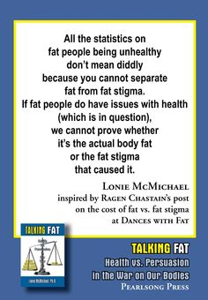 Lonie McMichael on fat/health statistics inspired by Ragen Chastain of Dances with Fat