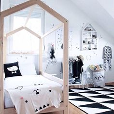 """@papilladefruta's photo: """"Do you want some #monochrome #decor #inspiration to start the week? We're pleased each time @lorena_m_f share her amazing kids room and tag us! Thanks Lorena! ♥️"""""""