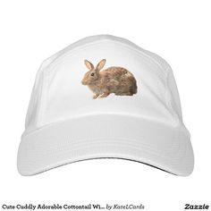 Cute Cuddly Adorable Cottontail Wild Bunny Rabbit Headsweats Hat