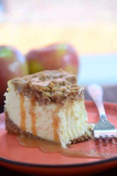 Caramel Apple Pie Cheesecake