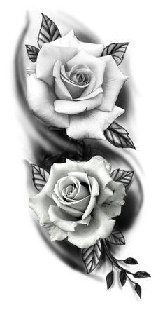 Skull Rose Tattoos, Rose Flower Tattoos, Rose Tattoos For Men, Black Rose Tattoos, Body Art Tattoos, Hand Tattoos, Tattoos For Guys, Tattoos For Women, Side Tattoos