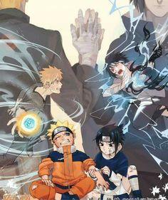Team 7 - Uzumaki Naruto X Uchiha Sasuke Naruto Vs Sasuke, Anime Naruto, Naruto And Sasuke Wallpaper, Wallpapers Naruto, Naruto Shippuden Anime, Naruto Art, Manga Anime, Gaara, Boruto