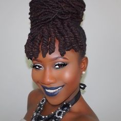 Loc Updo Hairstyles Sophisticated  Natural Skin And Hair Care  Pinterest  Locs