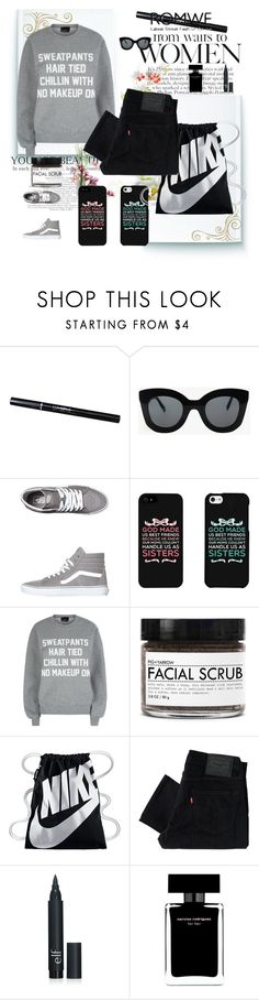 """""""W&M"""" by spiridoula-980 on Polyvore featuring CÉLINE, Vans, Private Party, Fig+Yarrow, NIKE, Levi's and Narciso Rodriguez"""