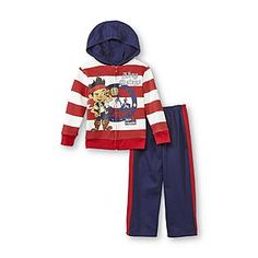 Disney Baby- -Toddler Boy's Hoodie Jacket & Sweatpants - Jake & the Never Land Pirates