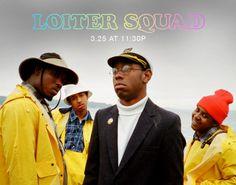 Loiter Squad ad promo with Lionel (L-Boy), Taco, Tyler, & Jasper Dolphin