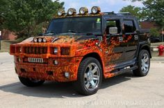 Hummer Truck, Hummer H1, Customised Trucks, Custom Trucks, Weird Cars, Cool Cars, Hammer Car, Big Van, Monster Car