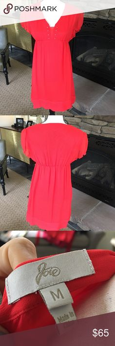 Joie Red Dress Size Medium Joie Red Dress Size Medium. Perfect condition. Joie Dresses