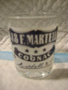 SOUVENIR SHOT GLASS-J & F. MARTELL-COGNAC