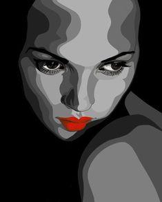 Cartoon Drawings, Art Drawings, Realistic Sketch, Vintage Pop Art, Art En Ligne, Arte Pop, Stencil Art, Portrait Illustration, Elements Of Art