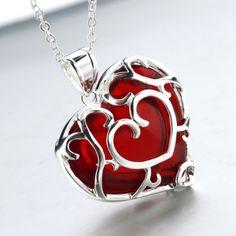 Sanshee.com | Store | Platinum Skyward Heart Necklace