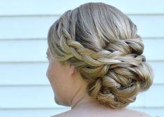 Braid Updo braided hairstyle | side swept bun upstyle | Cherry Blossom Belle