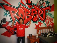 Kids Bedroom Graffiti kids bedroom wall art sticker graffiti name of your choice and